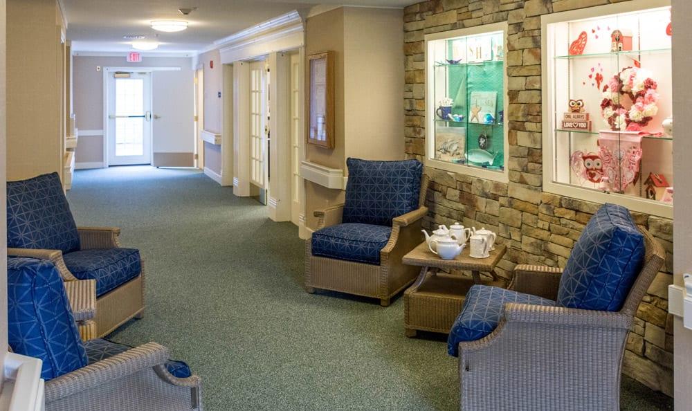 Lounge at senior living in Reading