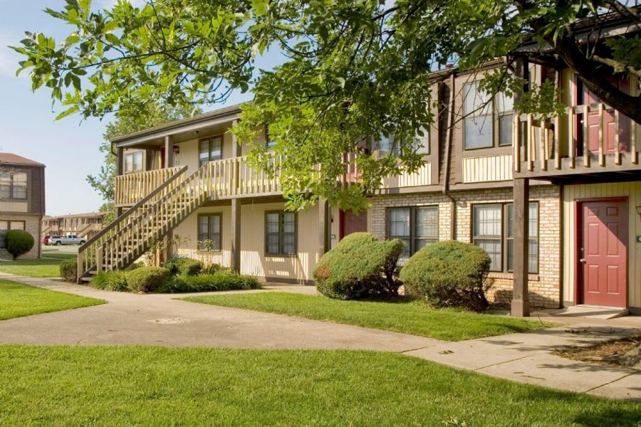 exterior at apartments in Clarksville, IN