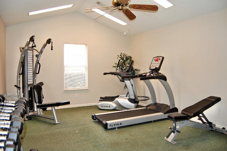 Fitness room at Green Wood