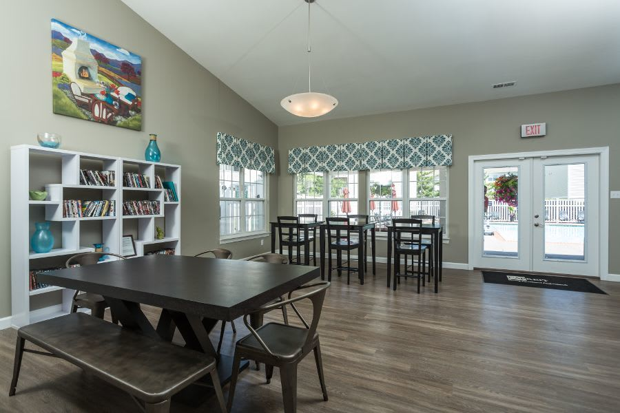 Dining room at apartments in Florissant, MO