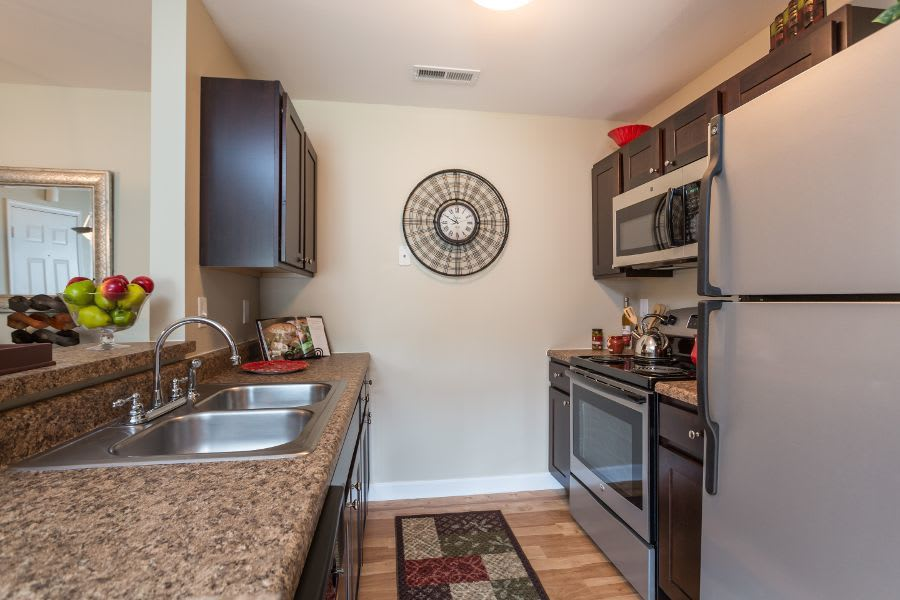 Kitchen room at apartments in Florissant, MO
