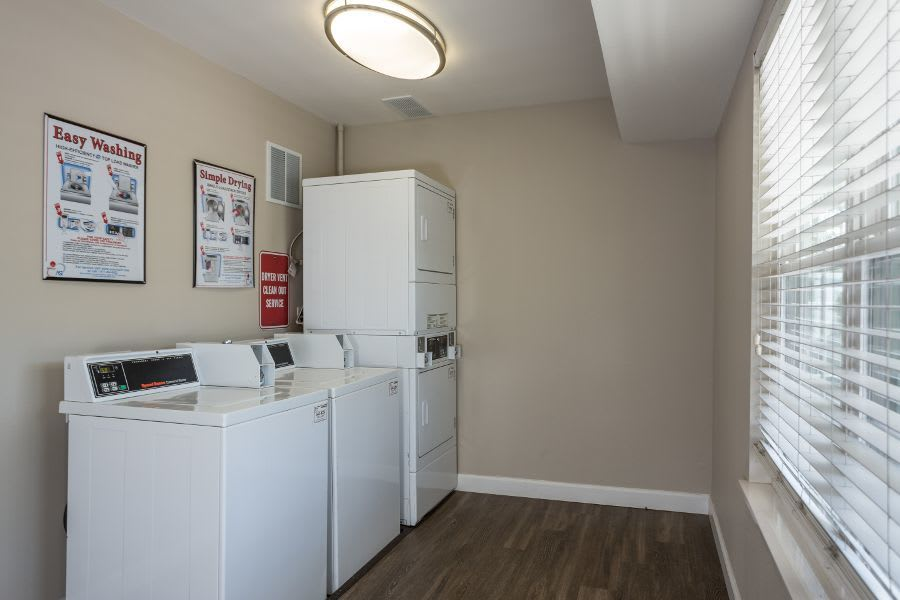 Laundry room at apartments in Florissant, MO