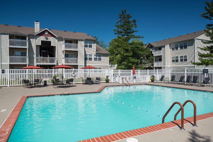 Swimming pool at apartments in Florissant, MO