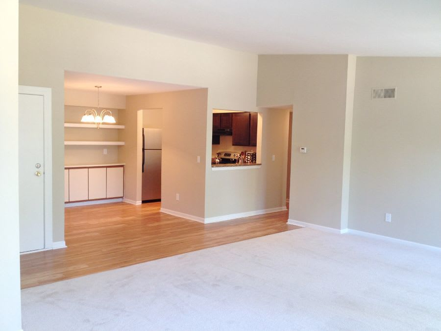 Living room at apartments in Southfield, MI