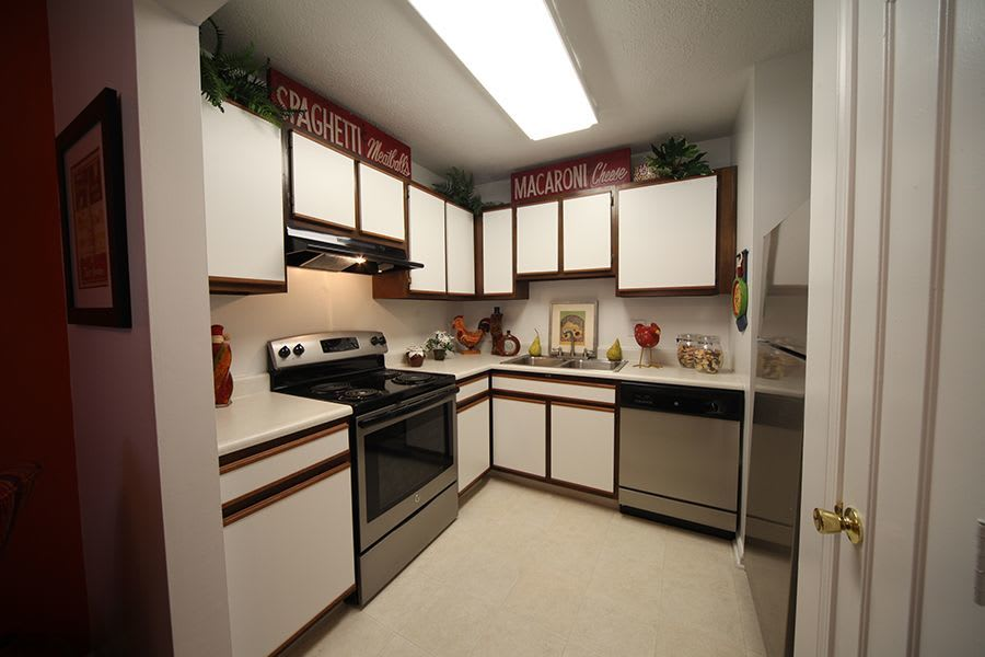 Kitchen room at apartments in Greenwood, IN