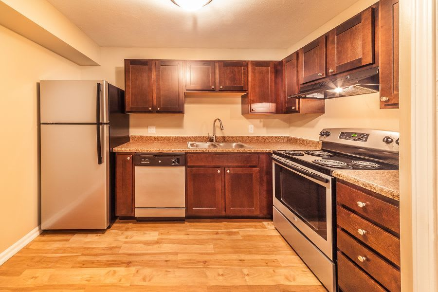 Spacious kitchen at apartments in Greenwood, IN