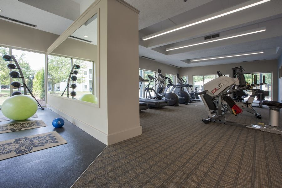 Exercise facility at apartments in Ann Arbor, MI