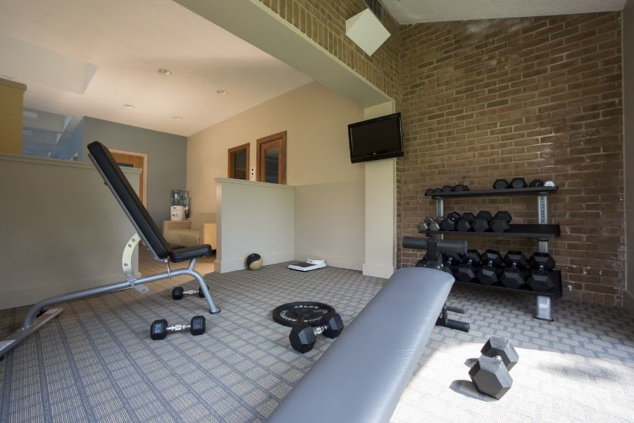 Weight room at apartments in Ann Arbor, MI