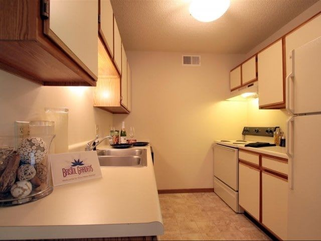 kitchen room at apartments in Decatur, IL