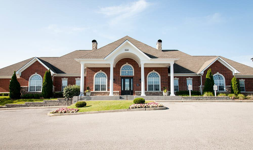 Leasing Office And Clubhouse Exterior at O'Fallon Lakes in O'Fallon, MO
