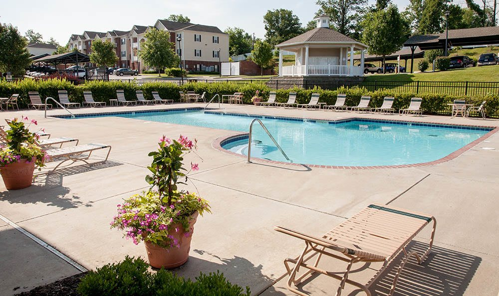 Sundeck Around Our Sparkling Pool at O'Fallon Lakes in O'Fallon, MO