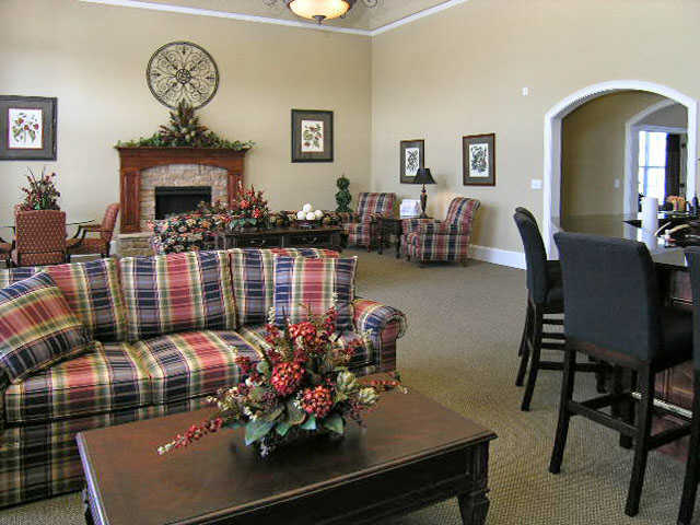 spacious clubhouse at apartments in Wentzville, MO
