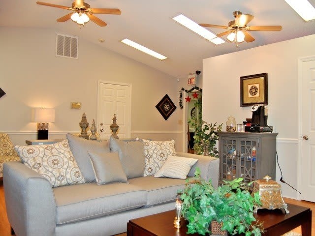 Living room at Meadow Wood Apartments