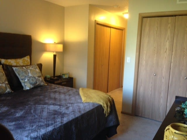 bedroom room at apartments in West Des Moines, IA