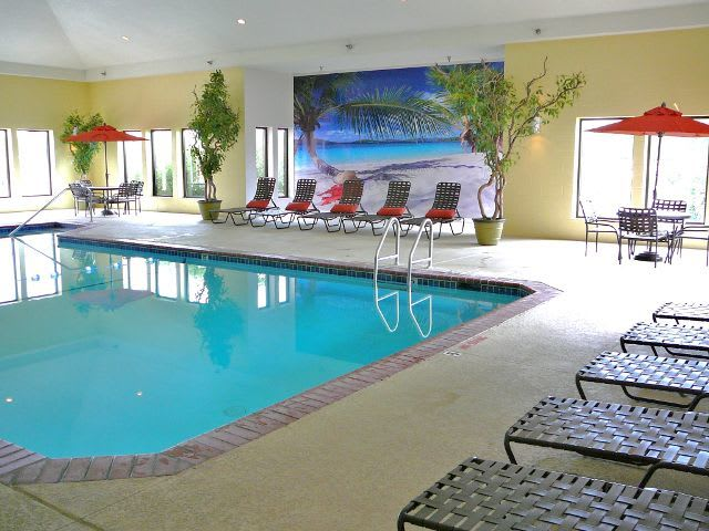 indoor pool at apartments in West Des Moines, IA