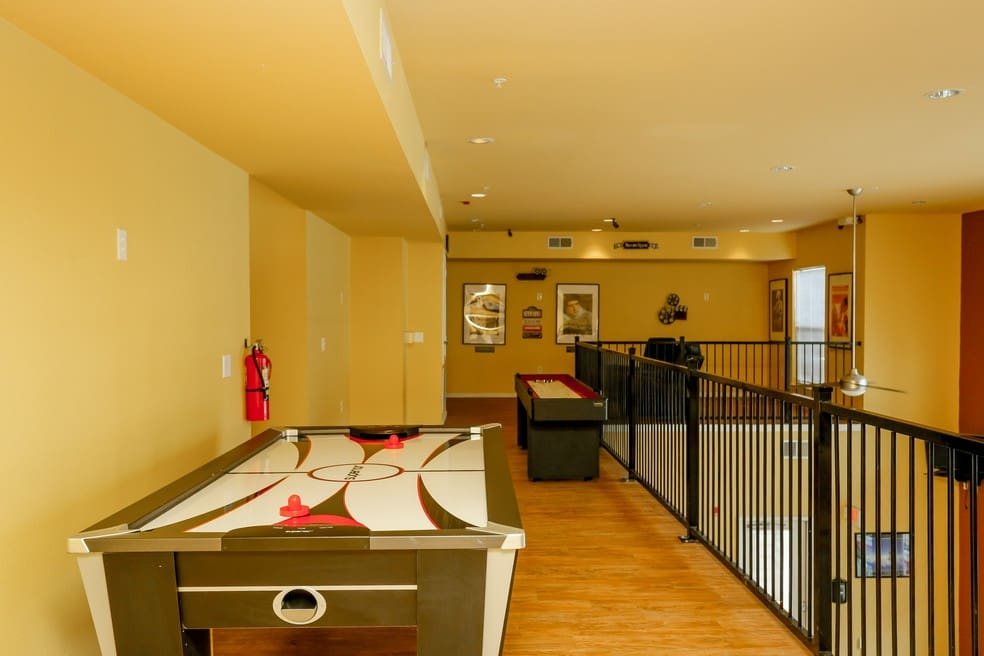 Recreation room at Canal Place