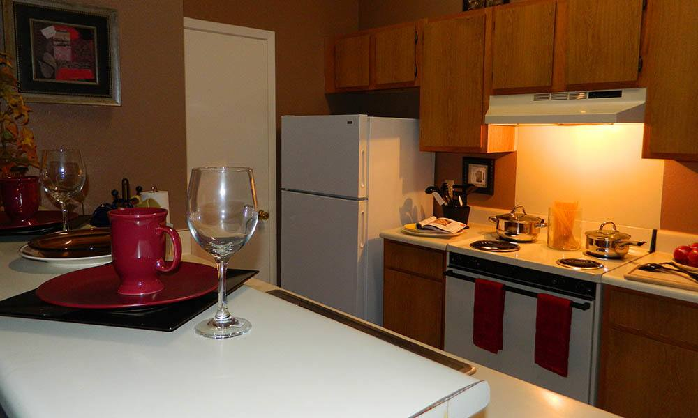 Kitchen At The Shelby Apartment Homes in Southaven, Mississippi