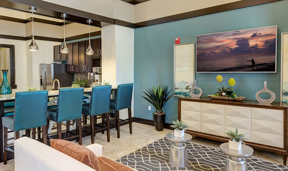 Another interior view of the lavish clubhouse at Integra Cove in Orlando