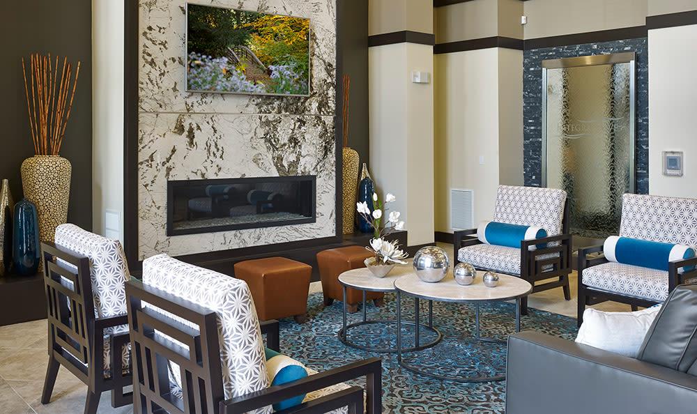 Interior view of the lavish clubhouse at Integra Cove in Orlando