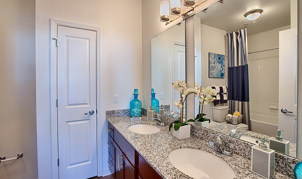 Luxurious bathroom at Park Place at Maguire in Windermere