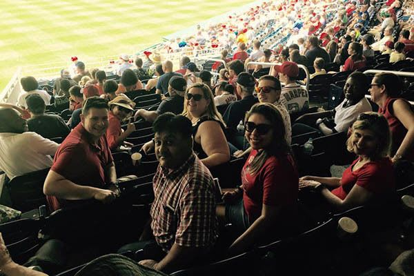 Home Office Team At A Washington Nationals Baseball Game