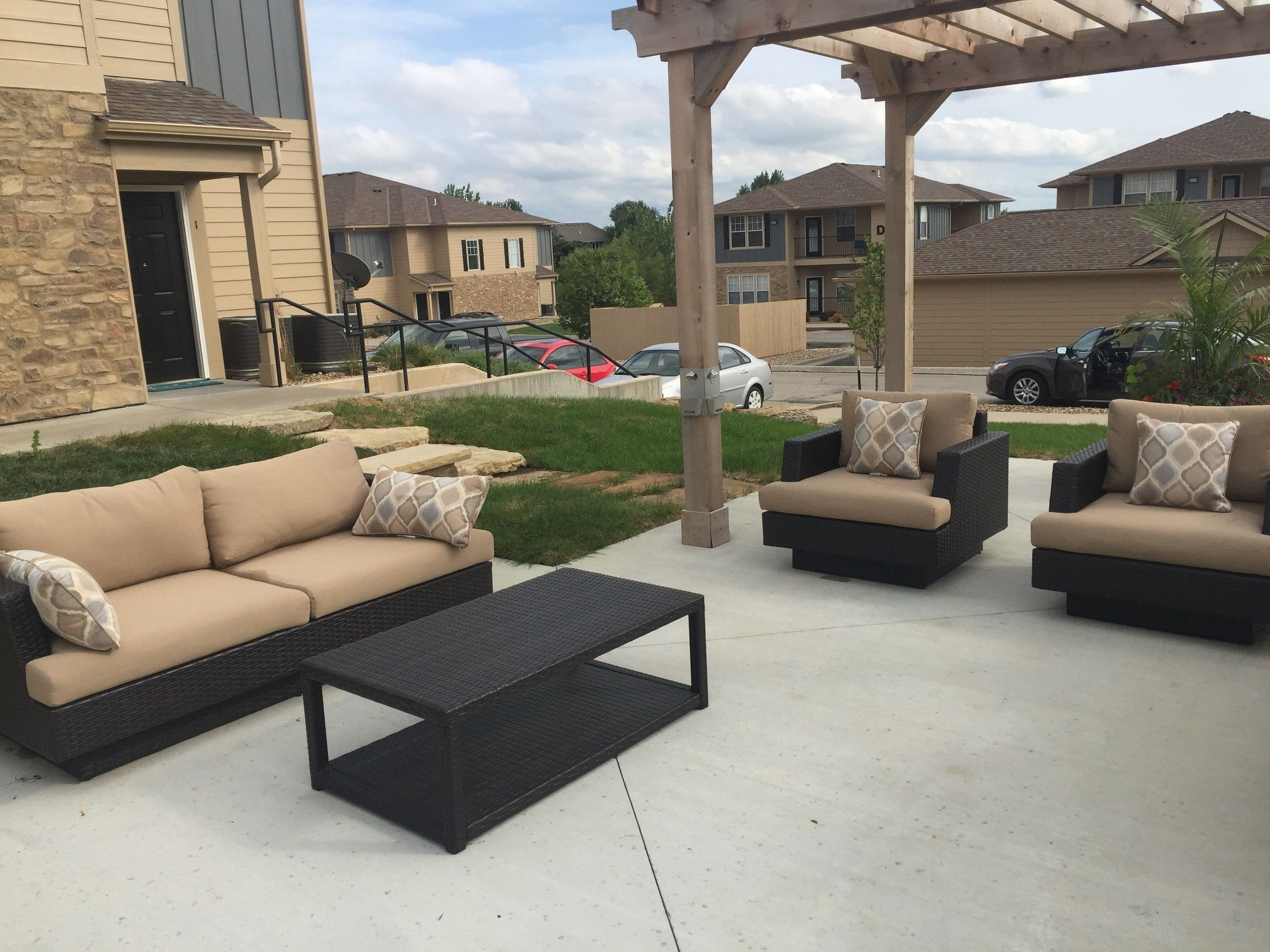 Relaxing outdoor lounge in Lawrence