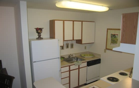 Designer kitchens at our apartments in Newark