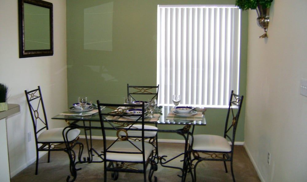Spacious dining rooms here at Waverley Place apartments
