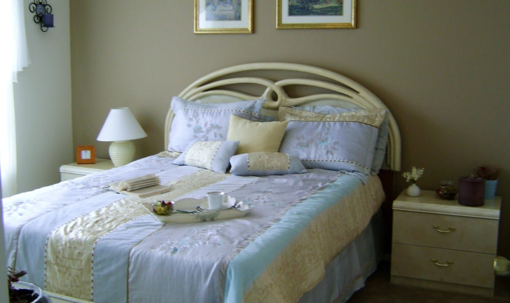 Designer bedrooms here at Waverley Place apartments