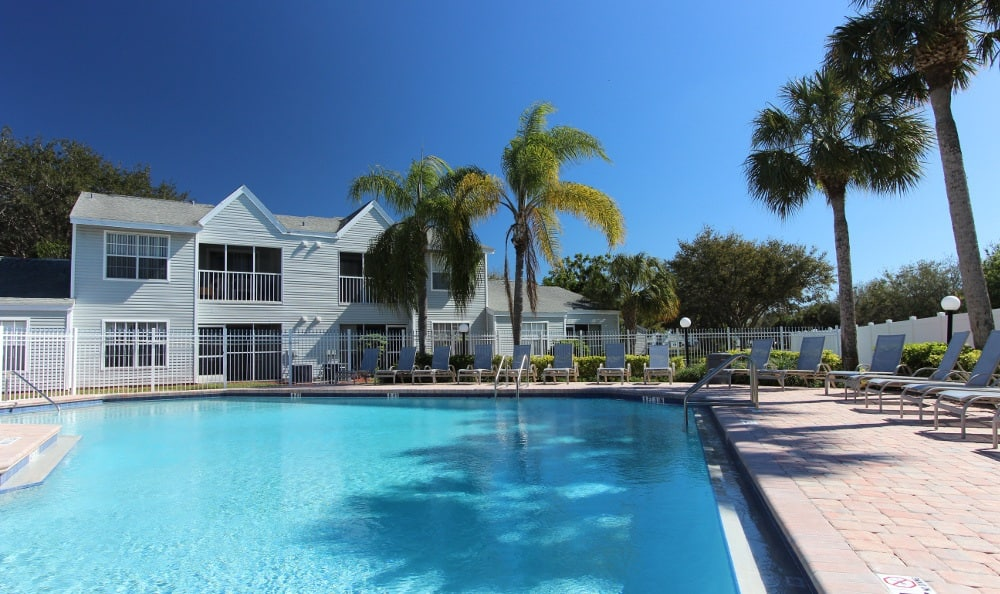 Pool at our apartments for rent in Naples FL