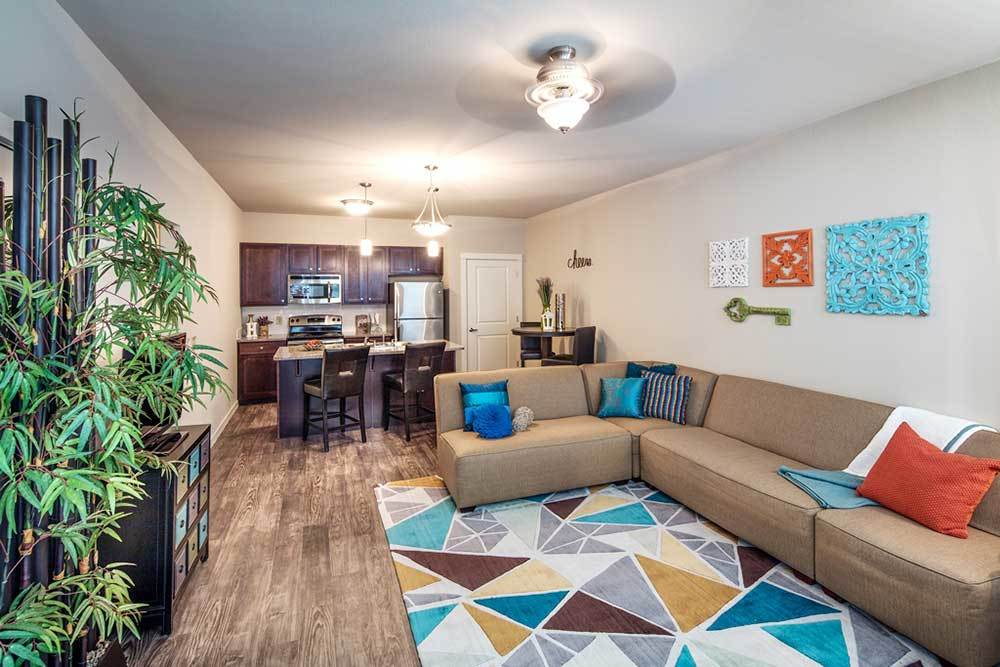 Model Living Room At Traditions At Mid Rivers