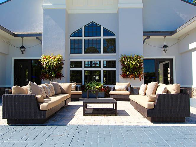 Patio Area at Brantley Pines in Fort Myers, FL