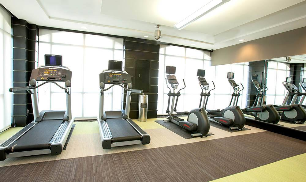 Fitness center at Minneapolis Grand Apartments in Minneapolis