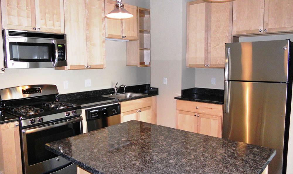 Kitchen at Minneapolis Grand Apartments in Minneapolis
