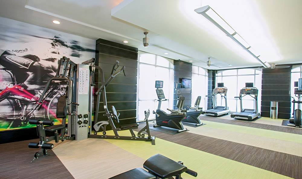Gym at apartments in Minneapolis, MN