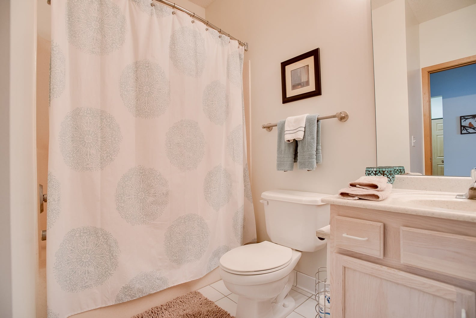 Provence Apartments model bathroom