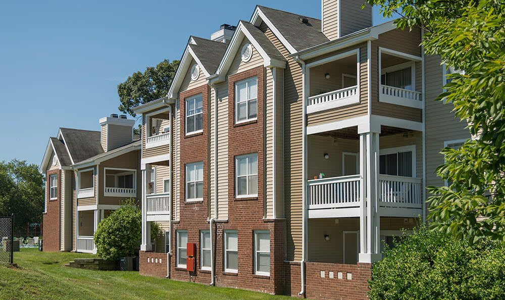 Exterior at apartments in Fredericksburg, VA