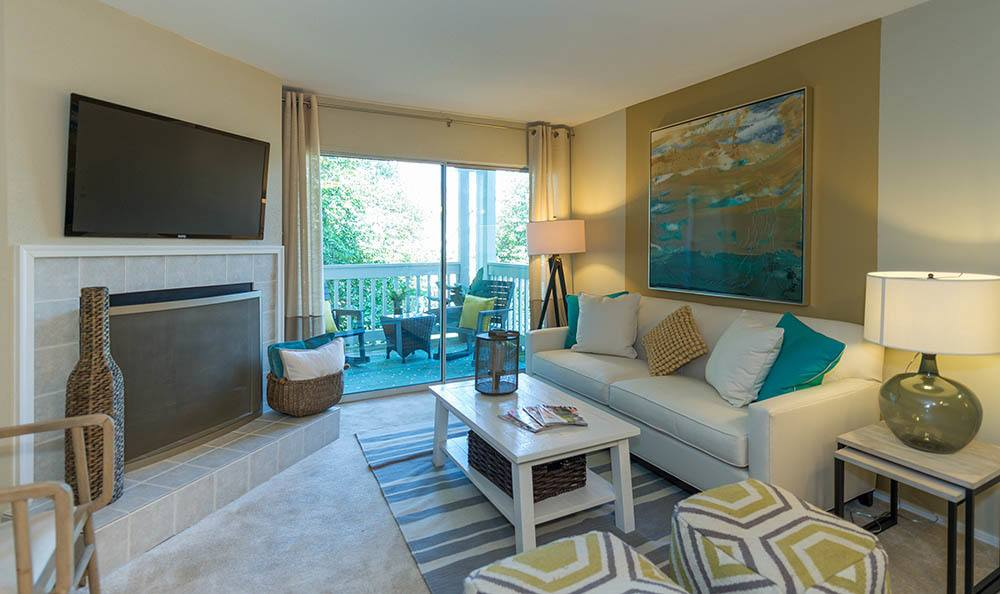 Living room at Residences at Belmont in Fredericksburg
