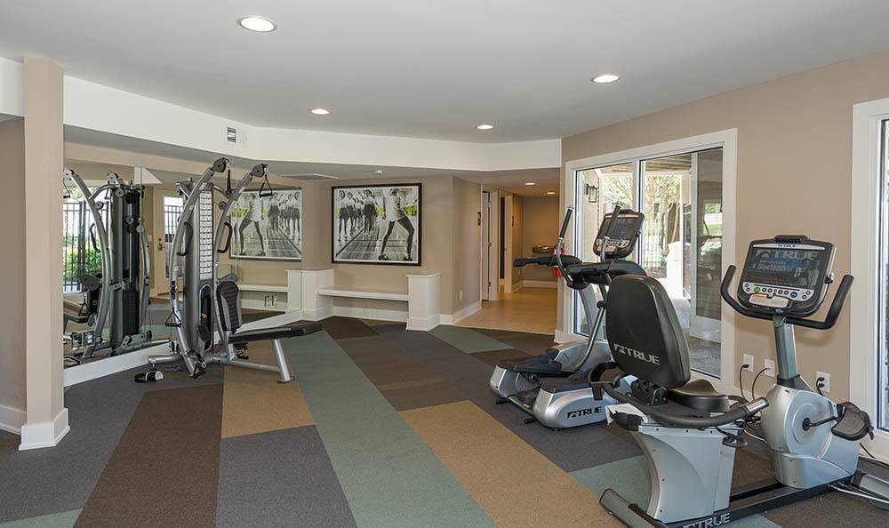 Fitness center at Residences at Belmont in Fredericksburg