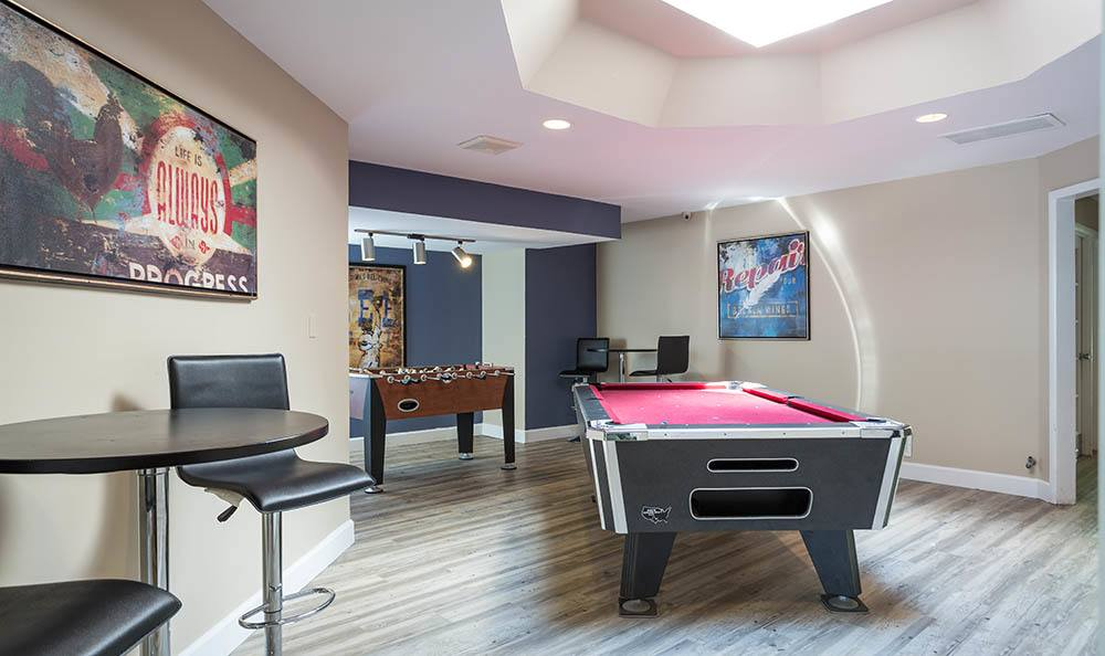 Billiards at apartments in Saint Charles, MO