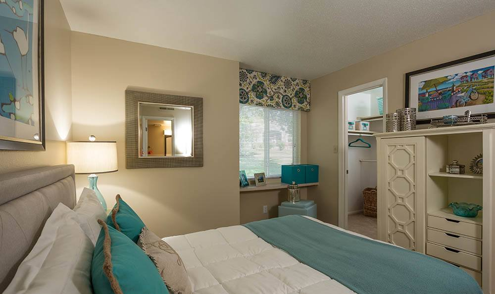 Master bedroom at Sunbrook Apartments in Saint Charles