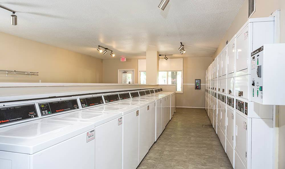 Laundry facility at Sunbrook Apartments in Saint Charles