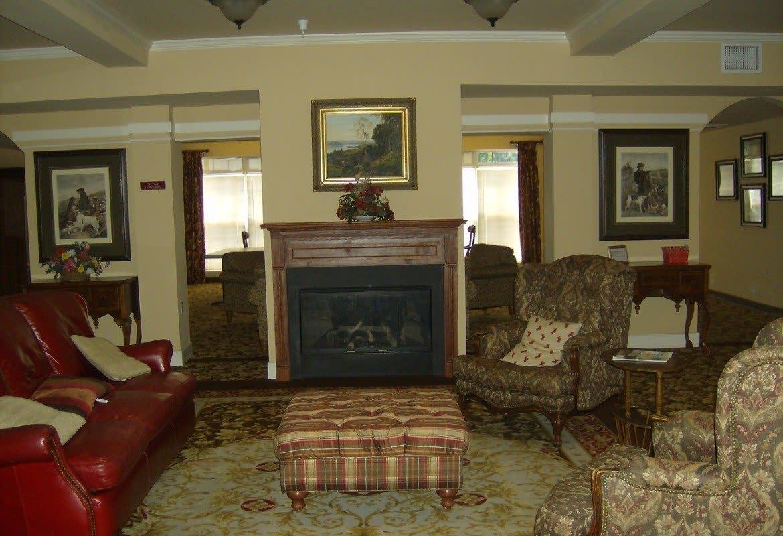 Living room at Atlantic at Twin Hickory