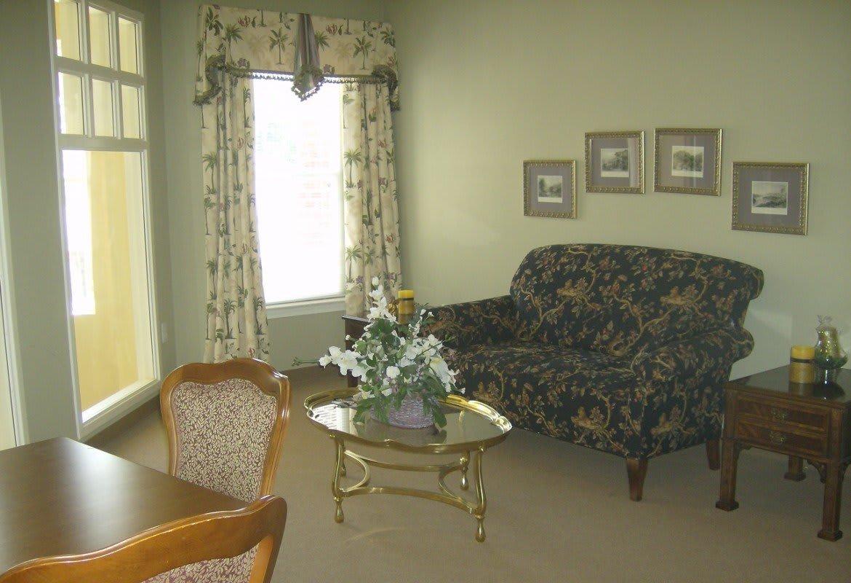 Spacious living room at Atlantic at Twin Hickory