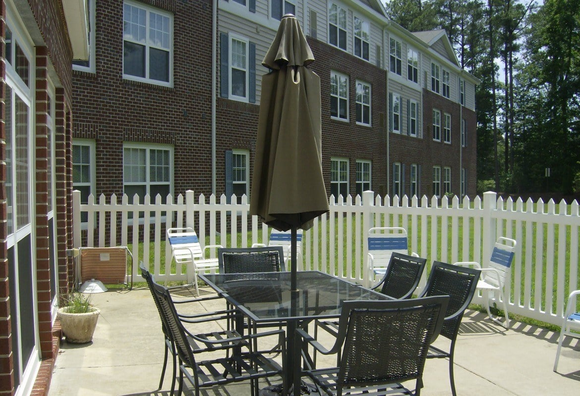 Patio at Atlantic at Twin Hickory in Glen Allen
