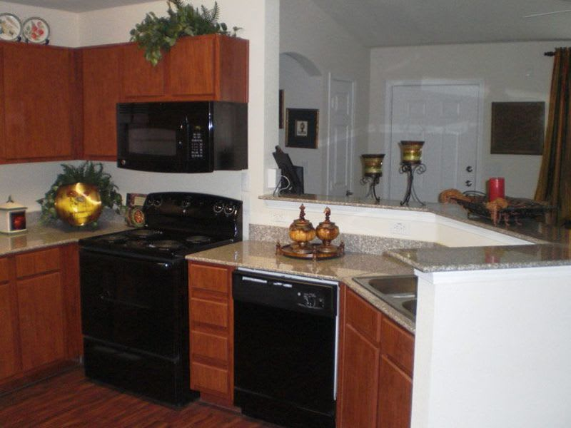 kitchen at apartments in Conroe, TX