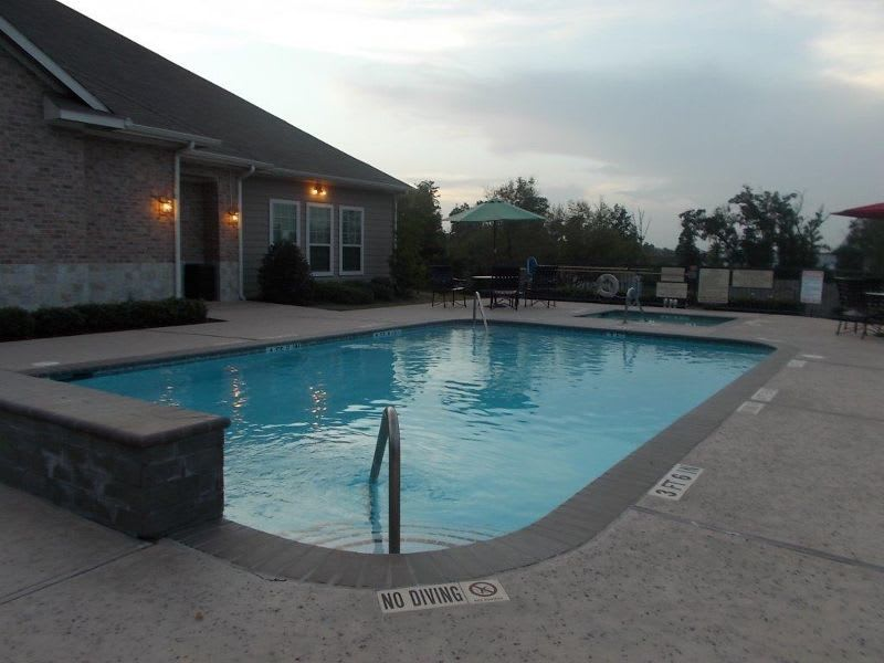 pool at apartments in Conroe, TX