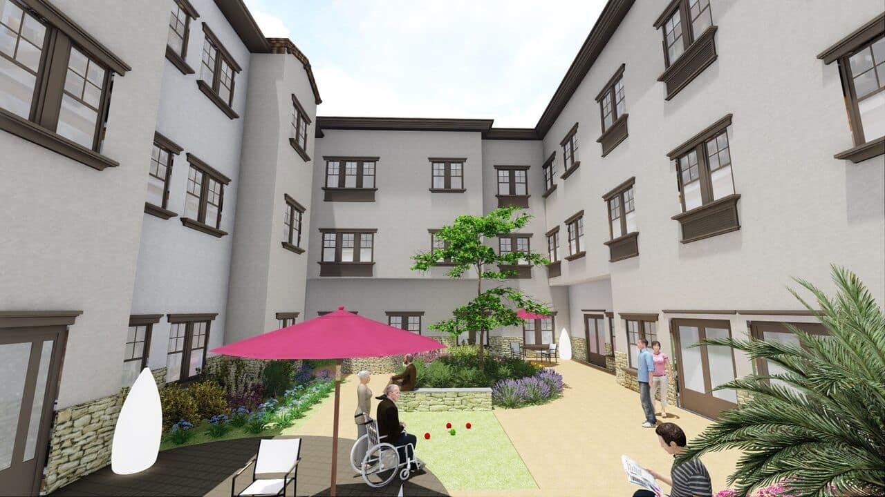 Courtyard at La Mesa