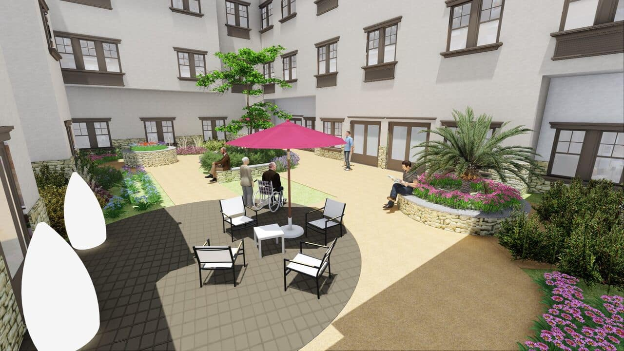 Courtyard at La Mesa