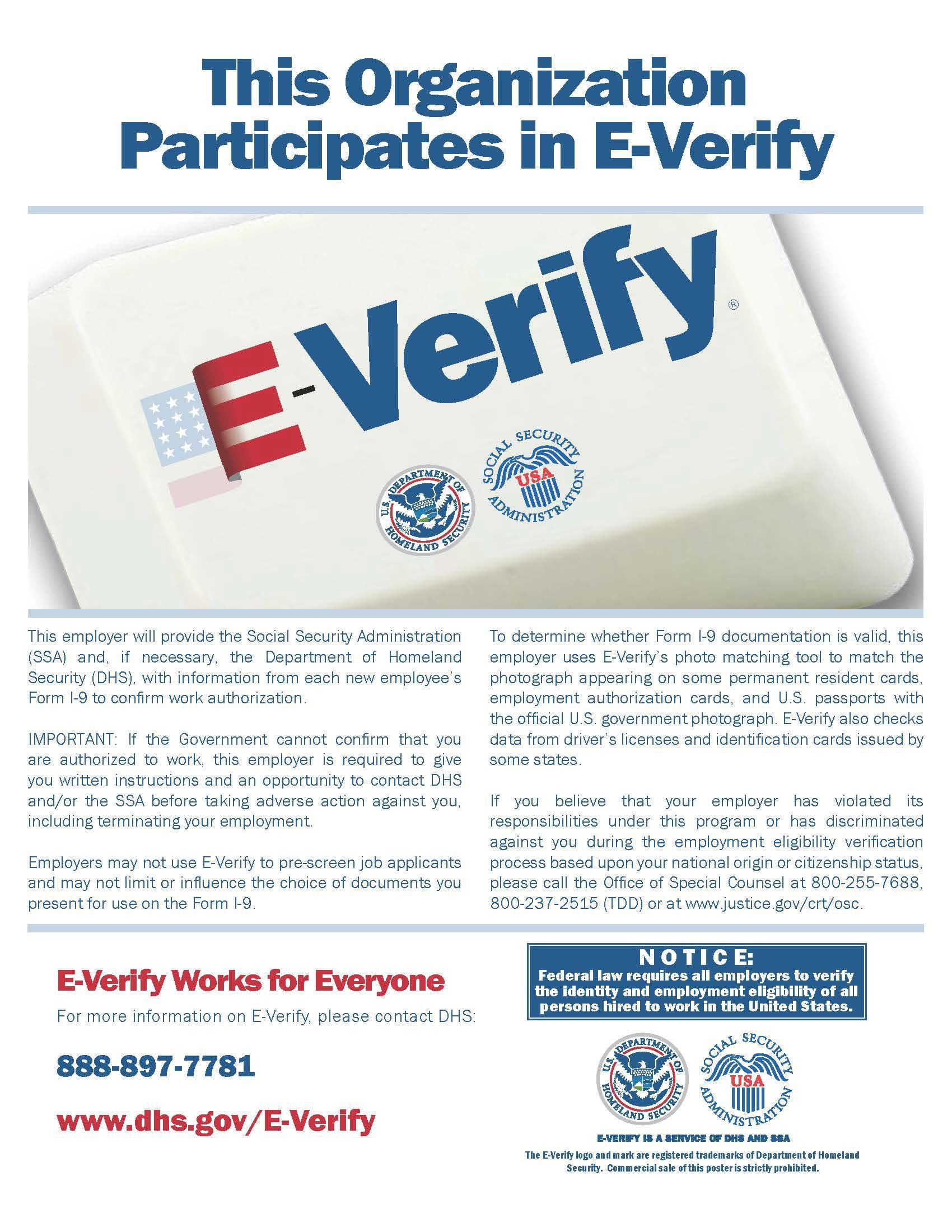Westmont Living E-Verifies with Social Security Administration